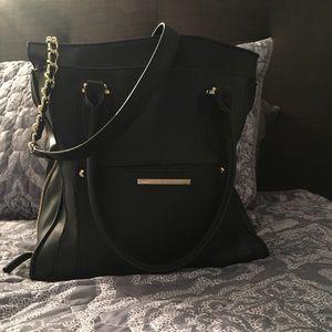 Handbags - Large Steve Madden black with gold accent bag